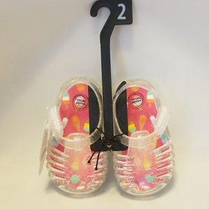 Clear Sparkle Toddler Jellies